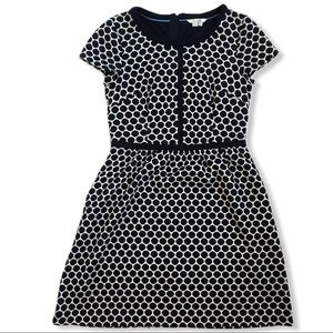 Boden short sleeve polka dot sweater dress
